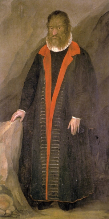 Petrus Gonsalvus, by anonymous